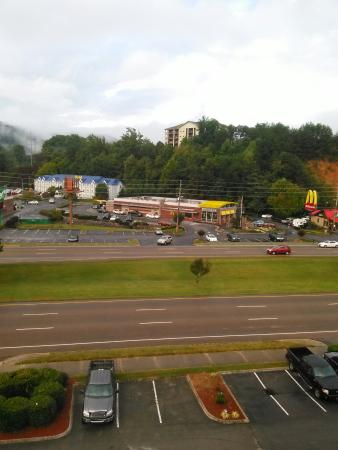 Riverside Motor Lodge: Our view from the penthouse suite.