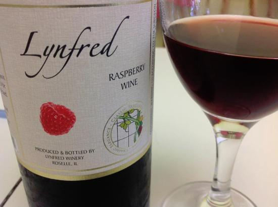 Lynfred Winery: Raspberry Wine is wonderful!