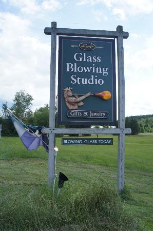 Waterbury, VT: Glass Blowing Studio