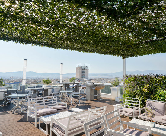 St Astra Blue Roof Garden at the Radisson Blu Park Hotel Athens