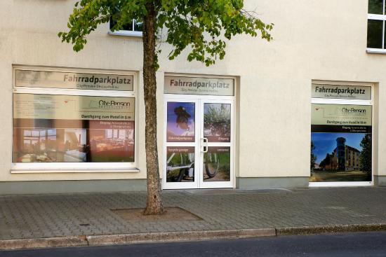 City-Pension Dessau-Rosslau: Fahrradgarage