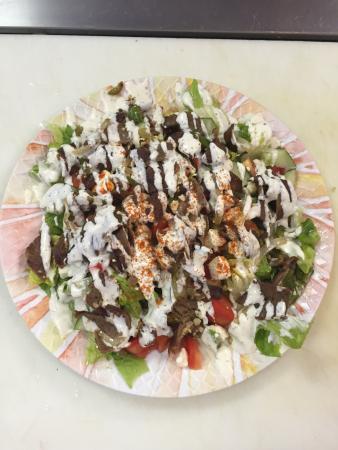 ไรต์สทาวน์, นิวเจอร์ซีย์: Lamb Pita Gyro with 2 Falafels  Lamb Salad Gyro dish