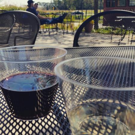 Egg Harbor, WI: Day drinking on a perfect fall morning