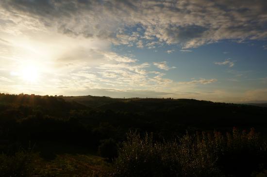 Collelungo, Italia: vue de la fenêtre de l'appartement Acqua