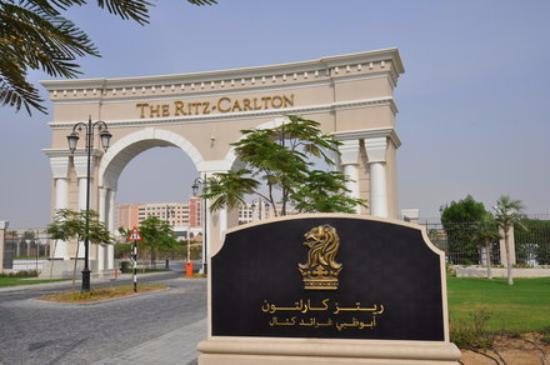 Entrance Gate Picture Of The Ritz Carlton Abu Dhabi Grand Canal Abu Dhabi Tripadvisor