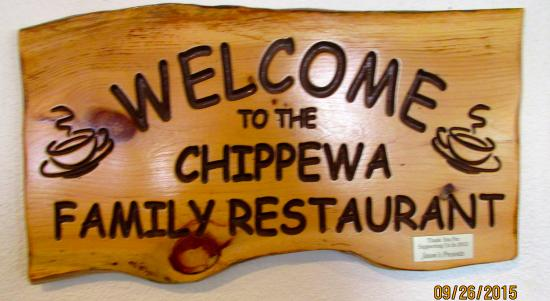 Chippewa family Restaurant: Sign