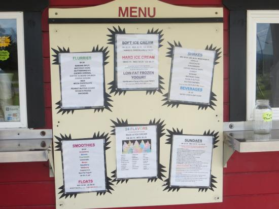 Dryden, Nowy Jork: F.C.'s menu