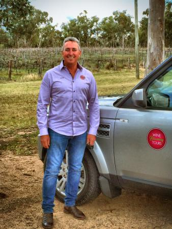 Pete with the Wine Discovery Tours luxury 4WD