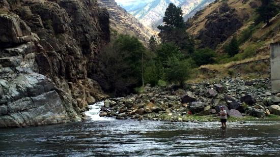 White Bird, ID: paisaje desde el rio snake