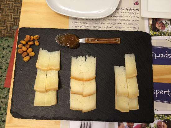 alfama cellar three kinds of cheese paring with your type of wine corn nuts