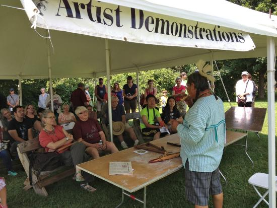 Victor, NY: Artisan demonstration at Native American Dance & Music Festival