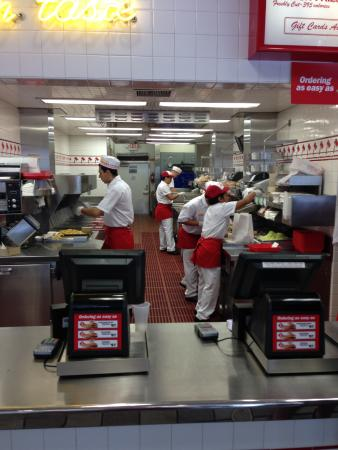 In-N-Out Burger : Efficient, friendly, kitchen staff