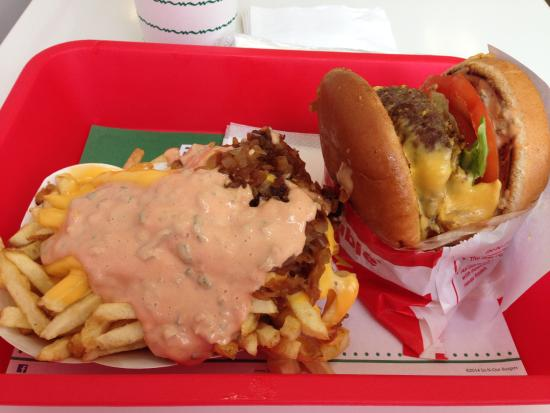 In-N-Out Burger : Double, Double and Fries, both Animal Style
