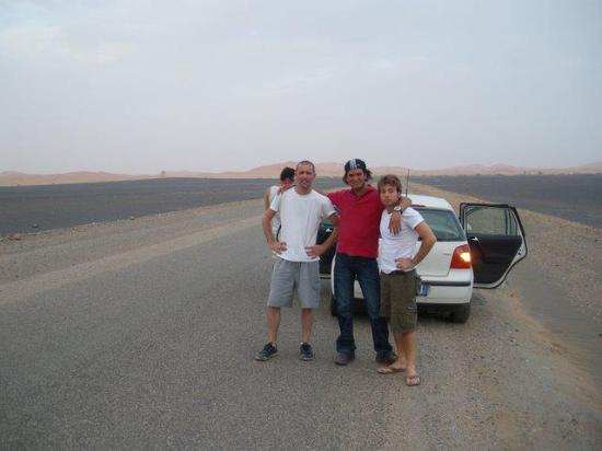 Camel Safari Camp: Me and friend with our guide!!!