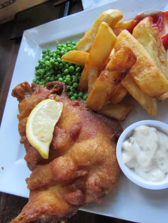 the red lion pub fish and chips were great
