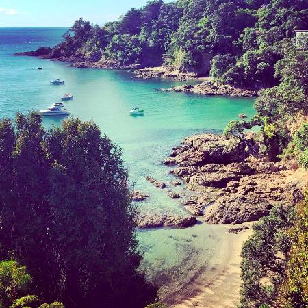 Pulau Waiheke, Selandia Baru: Beautiful views ..