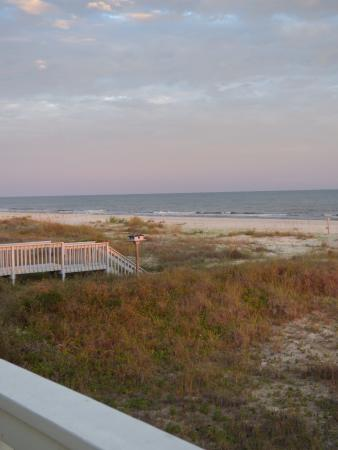 Cape San Blas, Floride : Looking southeast from the deck of our beach house