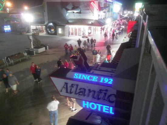 Atlantic Hotel: View of boardwalk from upper. Deck