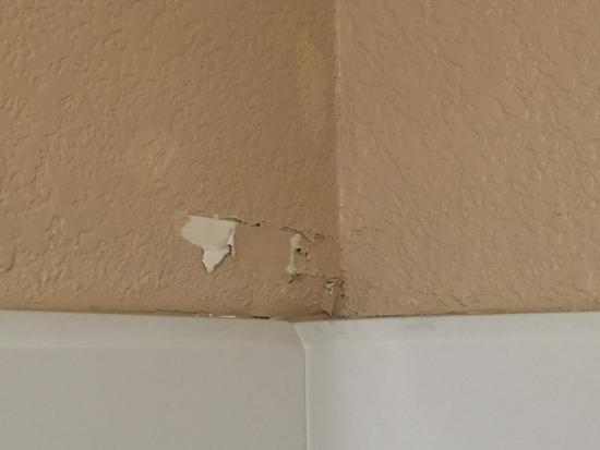 La Quinta Inn & Suites Las Vegas RedRock/Summerlin: Bathroom had many areas of bubbled and peeling paint.