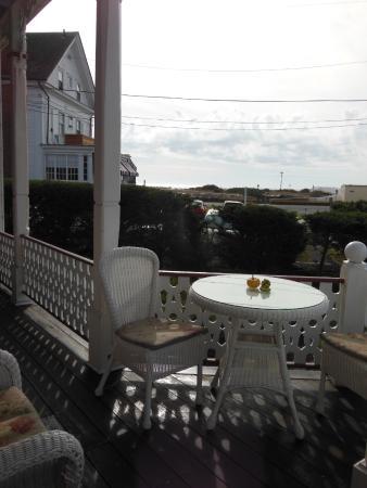 porch, facing ocean