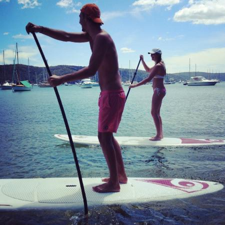 Avalon Beach, Australia: SUP with your best friend.