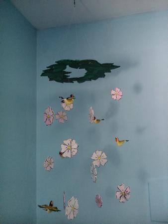 La Titerería: Colgador de flores y pájaros
