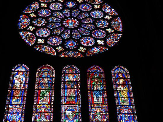 Chartres Cathedral: Chartres, stained glass