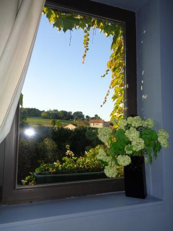 Saint-Hubert, France : vue de la chambre