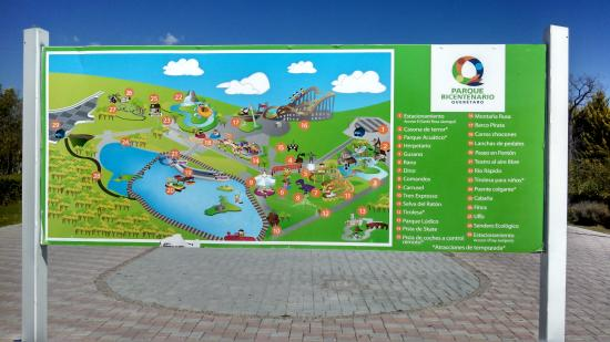 park map Picture of Parque Bicentenario Queretaro City TripAdvisor