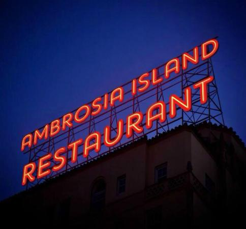 Ambrosia Island Restaurant: Name In Lights