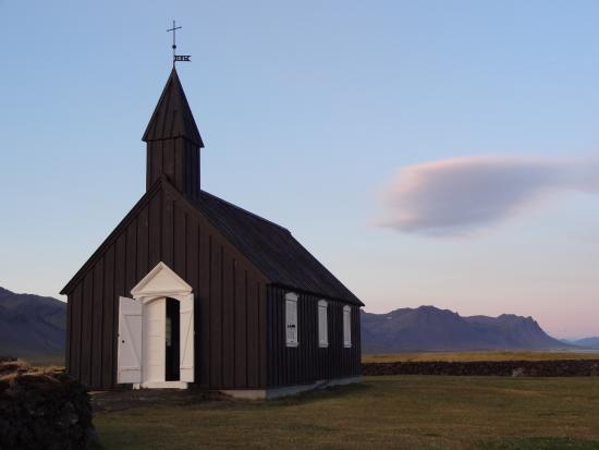 Budir Church at sunset