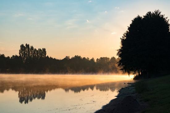 Camping du lac : Morgen auf dem Camping Palinges