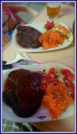 Chicos: Ribeye steak red wine marinade