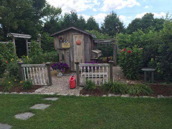 Addison, Βερμόντ: Gardens and chickens