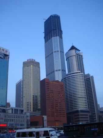 Zhuanghe, Kina: 大連の高層ビル群