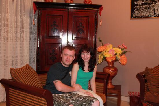 Tree Lodge : Мы с любимой женой!