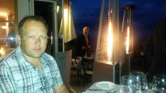 Hotel Aiguablava: evening meal outside terrace