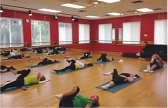 Sanibel Pilates Yoga Group In The Dance Studio
