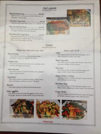 Menu page 2 picture of thai spice laramie tripadvisor for 8 spices thai cuisine menu