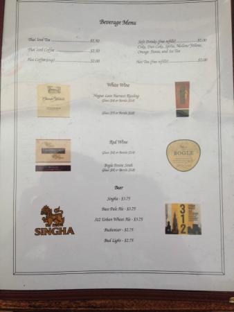 Thai Spice: Menu Page 4