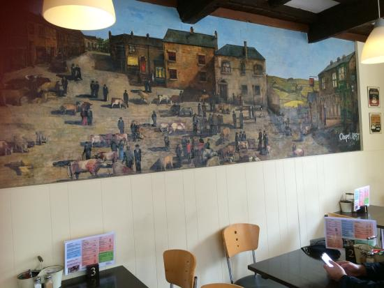 Wall art mural. - Picture of Stocks Cafe & Bistro, Chapel-en-le ...