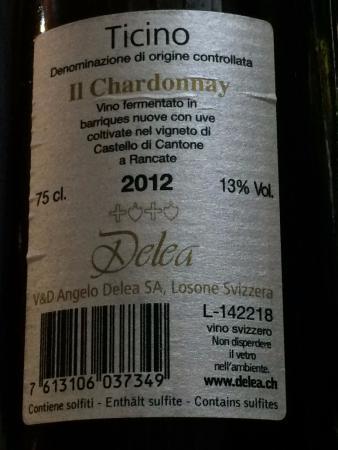 Ristorante/Osteria Lupatini: ボトルの裏