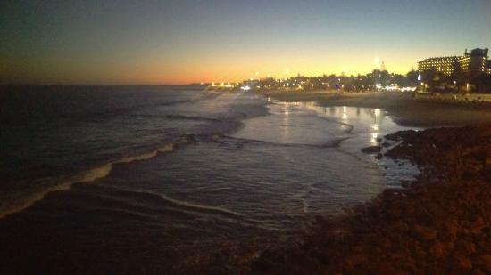 Playa de San Agustin : Just after sunset