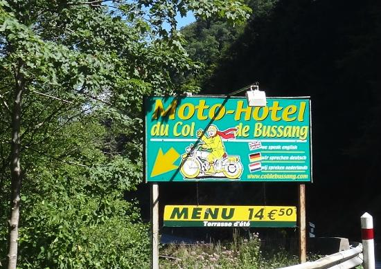 Hotel Col de Bussang : Welcome sign