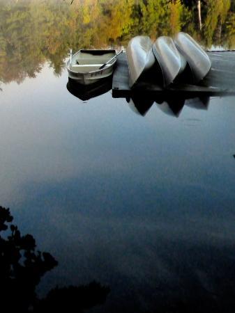 Sagamore National Historic Landmark Tours: Mirror surface lake...