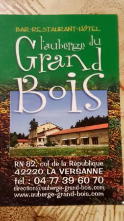 Restaurant Du Grand Bois La Versanne