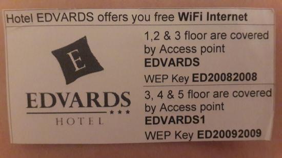 Hotel Edvards: Есть вайфай