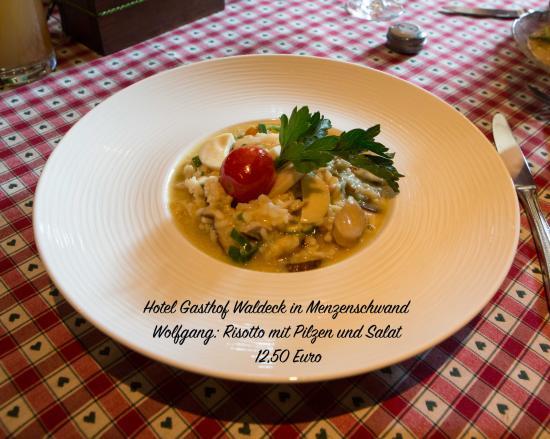 Menzenschwand, Deutschland: Risotto mit Salat 12,50 Euro