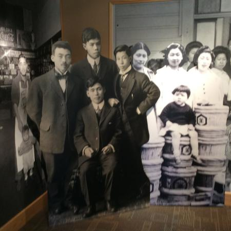 Powell, WY: Photo display inside the museum.