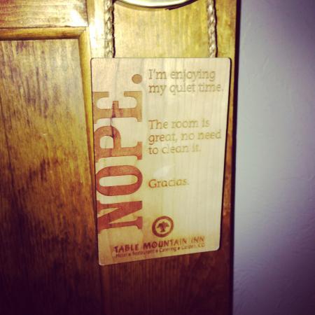 Cute Door Sign Picture Of Table Mountain Inn Golden